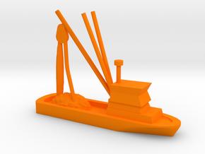 Fishing Boat Game Piece in Orange Processed Versatile Plastic