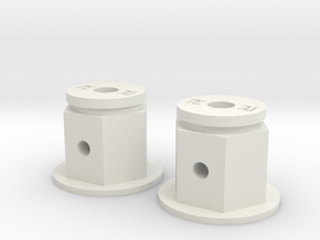 Rapture Hub (Single Pair) in White Natural Versatile Plastic