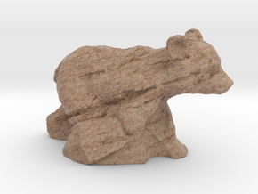 "1"" Bear Cub in Full Color Sandstone"