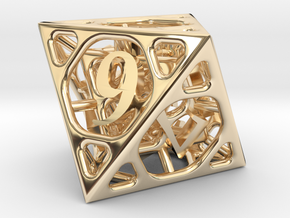 Cage d8 in 14K Yellow Gold
