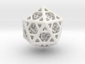 Cage Die20 in White Premium Versatile Plastic