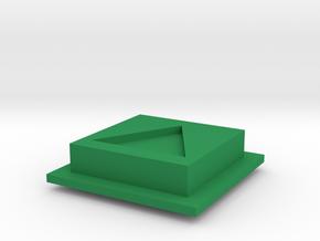 Disco Robo Play Button in Green Processed Versatile Plastic