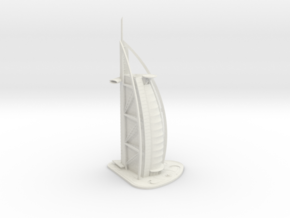 Burj Al Arab (1:2000) in White Natural Versatile Plastic