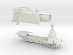N. L. R. Outside cylinder 440 tank loco (Wide cab) in White Natural Versatile Plastic
