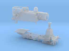 N. L. R. Outside cylinder 440 tank loco (Wide cab) in Smooth Fine Detail Plastic