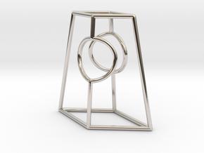 "Diamond Portal 1"" in Rhodium Plated Brass"