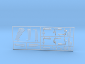 Cessna421B-144scale-06-WhiteParts-Fret1 in Smooth Fine Detail Plastic