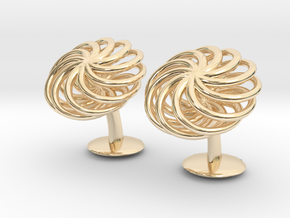 SpiralCufflinks2 in 14K Yellow Gold