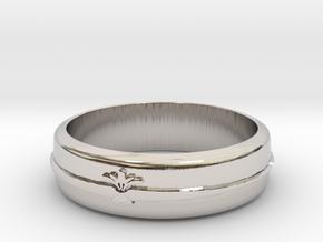 Filigree ring 1 S9 in Rhodium Plated Brass