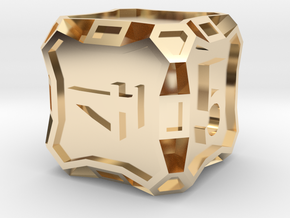 Premier d6 - Custom in 14k Gold Plated Brass