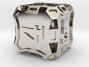 Large d6 - Custom in Platinum