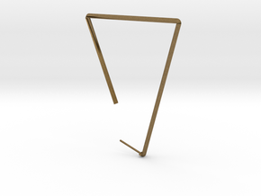 Single Large Triangle Earring  in Natural Bronze