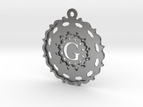 Magic Letter G Pendant in Natural Silver