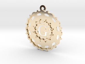 Magic Letter G Pendant in 14K Yellow Gold