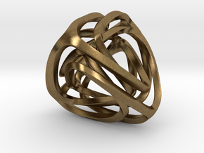 Twisted Tetrahedron (Thin) in Natural Bronze: Small
