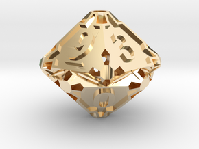 Large Premier d10 in 14K Yellow Gold
