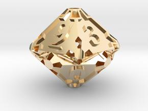 Large Premier Die10 in 14K Yellow Gold