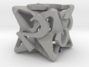 Pinwheel Die6 in Aluminum