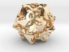 Pinwheel Die12 in 14K Yellow Gold