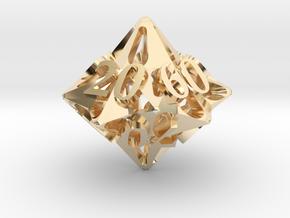 Pinwheel Decader d10 in 14K Yellow Gold