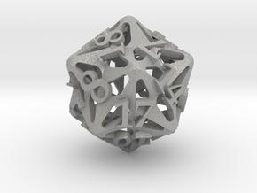 Pinwheel d20 in Aluminum