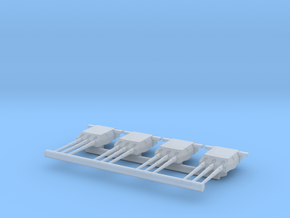 Triple Turret set for Bismarck or Tirpitz in Smooth Fine Detail Plastic