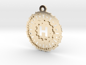 Magic Letter H Pendant in 14K Yellow Gold