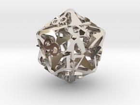 Pinwheel Die20 Ornament in Platinum