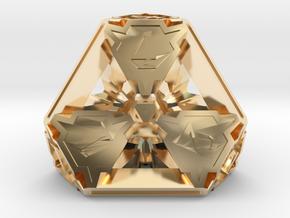 Premier Die4 in 14K Yellow Gold