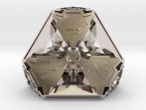 Premier Die4 in Rhodium Plated Brass
