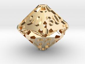 Premier Decader Die10 in 14K Yellow Gold