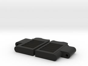 HO Saloon Doors - Use Sequin Pins in Black Natural Versatile Plastic