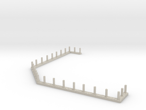 HO Scale Saloon - Awning Rail in Natural Sandstone