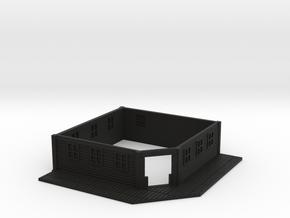 HO Scale Saloon Empty- Bottom Floor in Black Premium Versatile Plastic