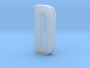 Choker Slide Letters (4cm) - Letter D in Smooth Fine Detail Plastic