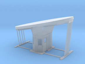 'N Scale' - Outdoor Drive-thru Ticket Booth in Smooth Fine Detail Plastic