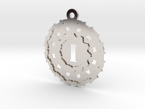 Magic Letter I Pendant in Rhodium Plated Brass
