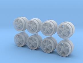 Hot Wheels Porsche Cup II 7-3 Rims in Smoothest Fine Detail Plastic