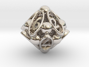 Spore d10 in Rhodium Plated Brass