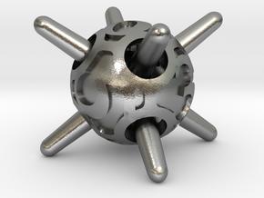 Sputnik d6 in Natural Silver