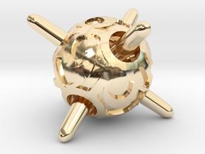Sputnik d8 in 14k Gold Plated Brass