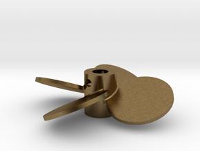 "1.75"" - BBP 25º RH - 3/16"" Shaft in Natural Bronze"