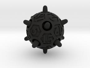 Sputnik Die20 in Black Premium Versatile Plastic