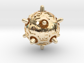 Sputnik d20 in 14K Yellow Gold