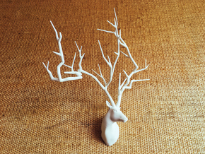 Sakura Tree Deer head in White Natural Versatile Plastic