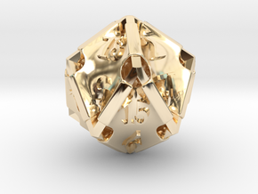 Stretcher d20 in 14K Yellow Gold