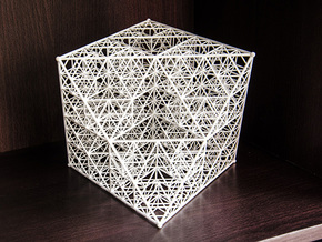 Diamant de Sierpinski in White Natural Versatile Plastic