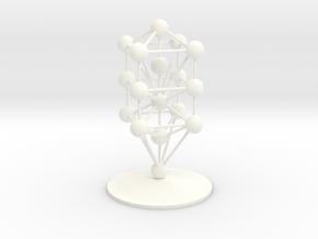 3D Tree of Life in White Processed Versatile Plastic: Medium
