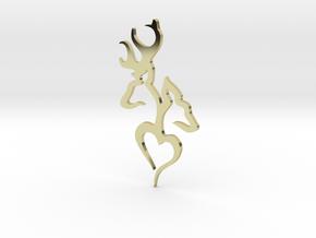Deer in 18k Gold: Medium