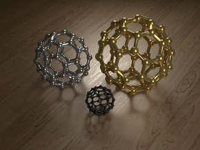 Buckyball Small in White Strong & Flexible Polished